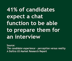41 percent candidates expect chat to prep them for interview
