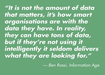 Not the amount of data Quote
