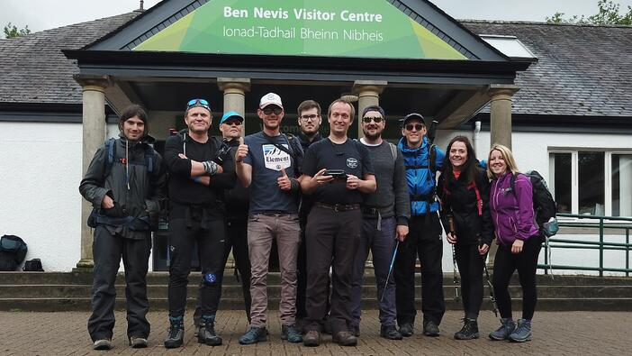 DaXtra starts the Three Peaks Challenge at Ben Nevis