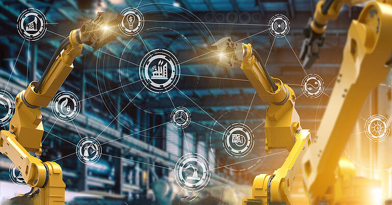 Robotic arms conducting automation