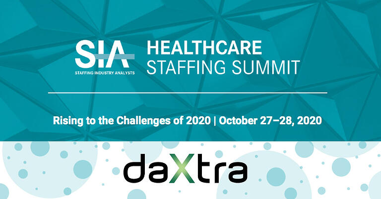 SIA Healthcare Staffing Summit 2020 and DaXtra