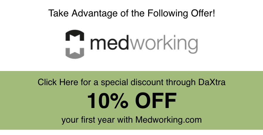 10% Off your first year with Medworking