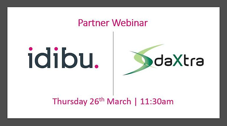 DaXtra and Idibu Partner Webinar Thursday 26th March