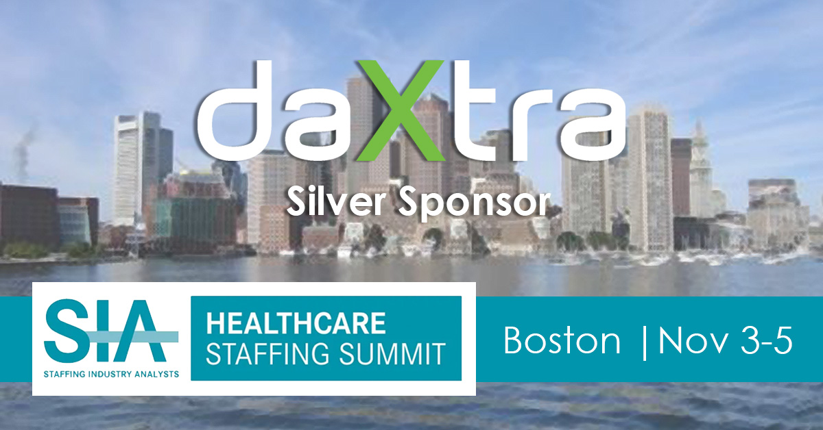 DaXtra logo silver sponsor at SIA Healthcare Staffing Summit 2021 in Boston