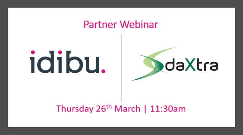 DaXtra and Idibu Partner Webinar Thursday 26th March